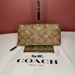 Coach Accordion Wallet in Butterfly Print